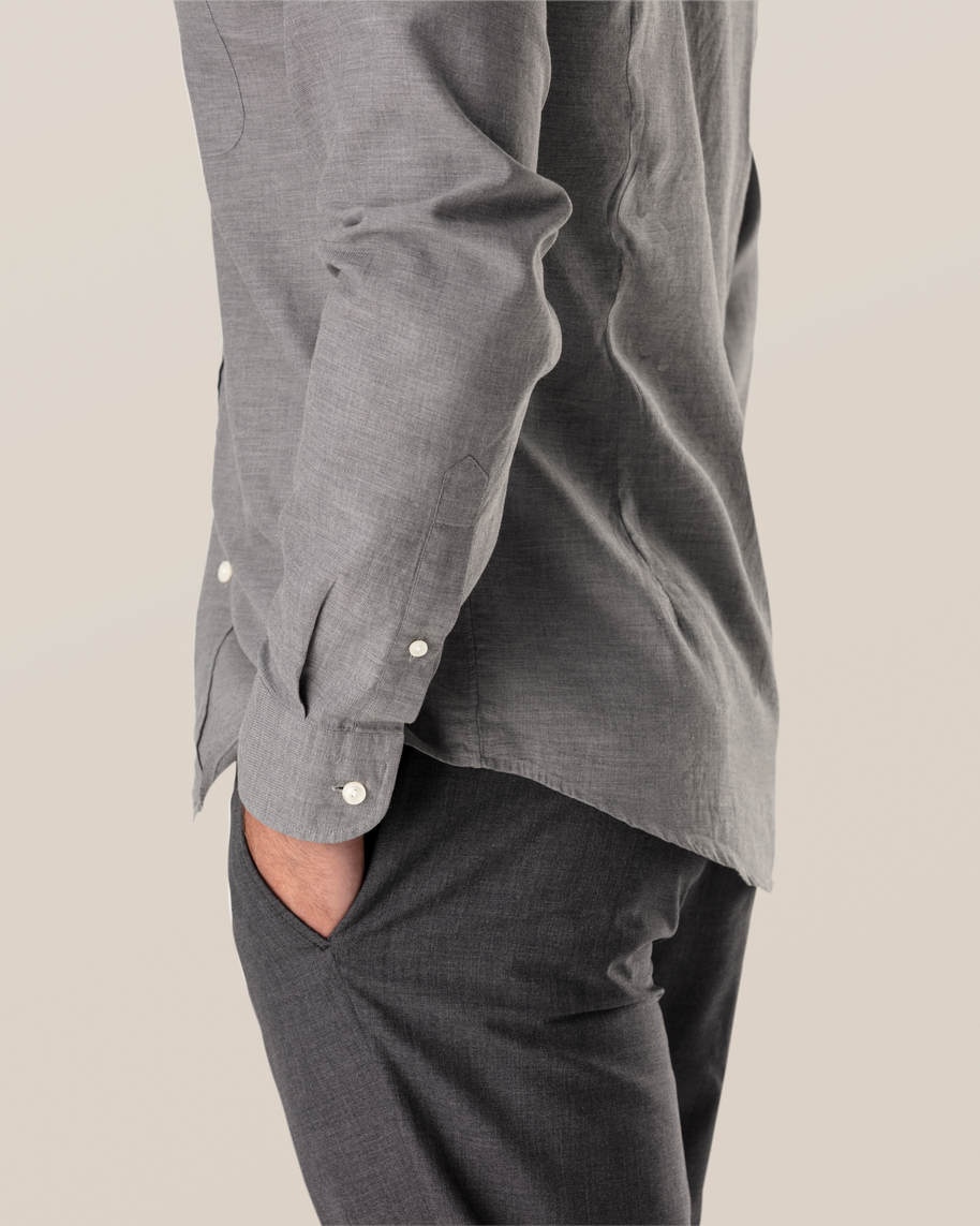 Grey Lightweight Flannel Shirt - image 7