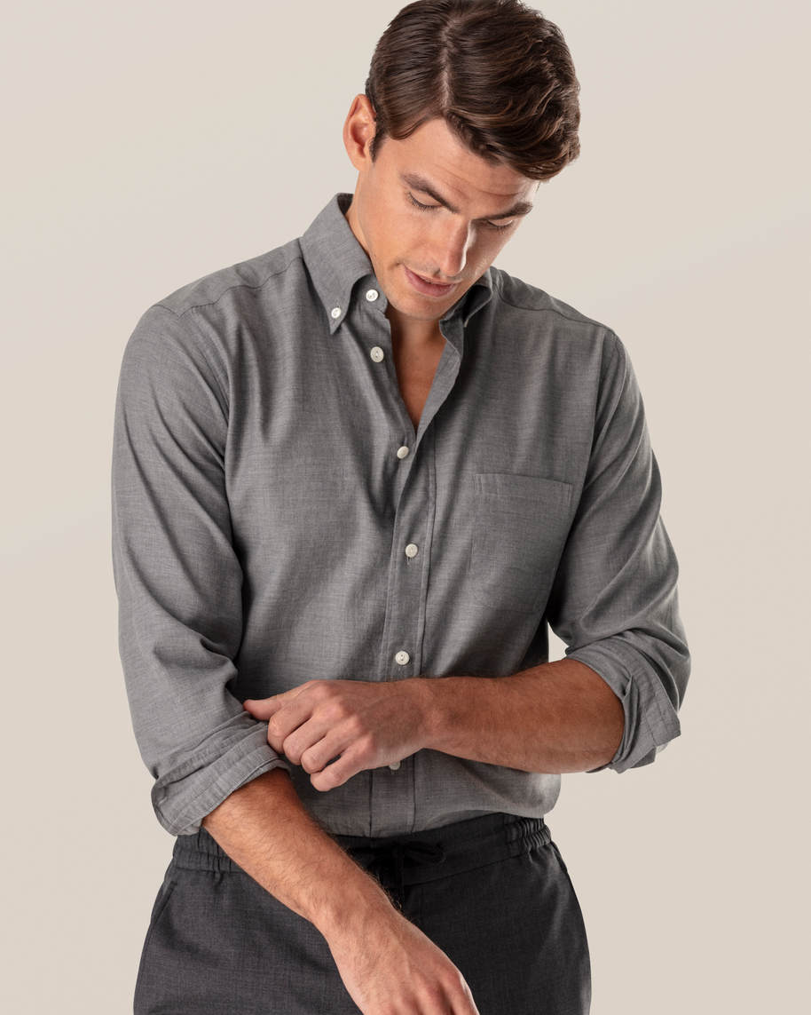 Grey Lightweight Flannel Shirt - image 1