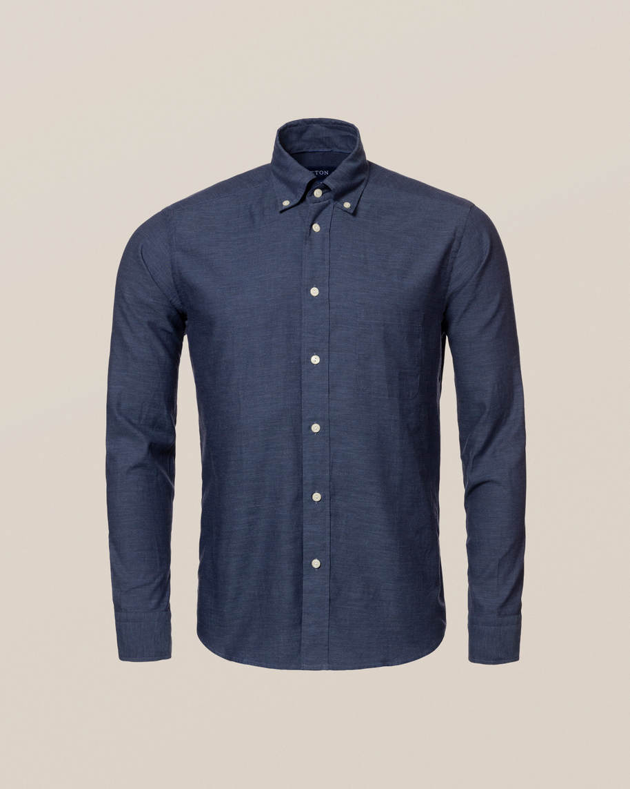 Dark Blue Lightweight Flannel Shirt - image 2