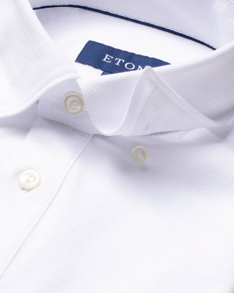 White polo shirt - short sleeved