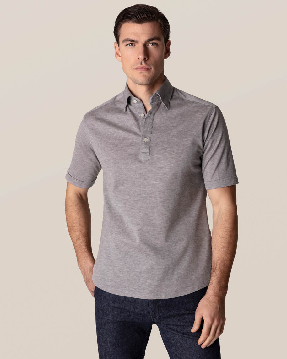 Light grey polo shirt - short sleeved
