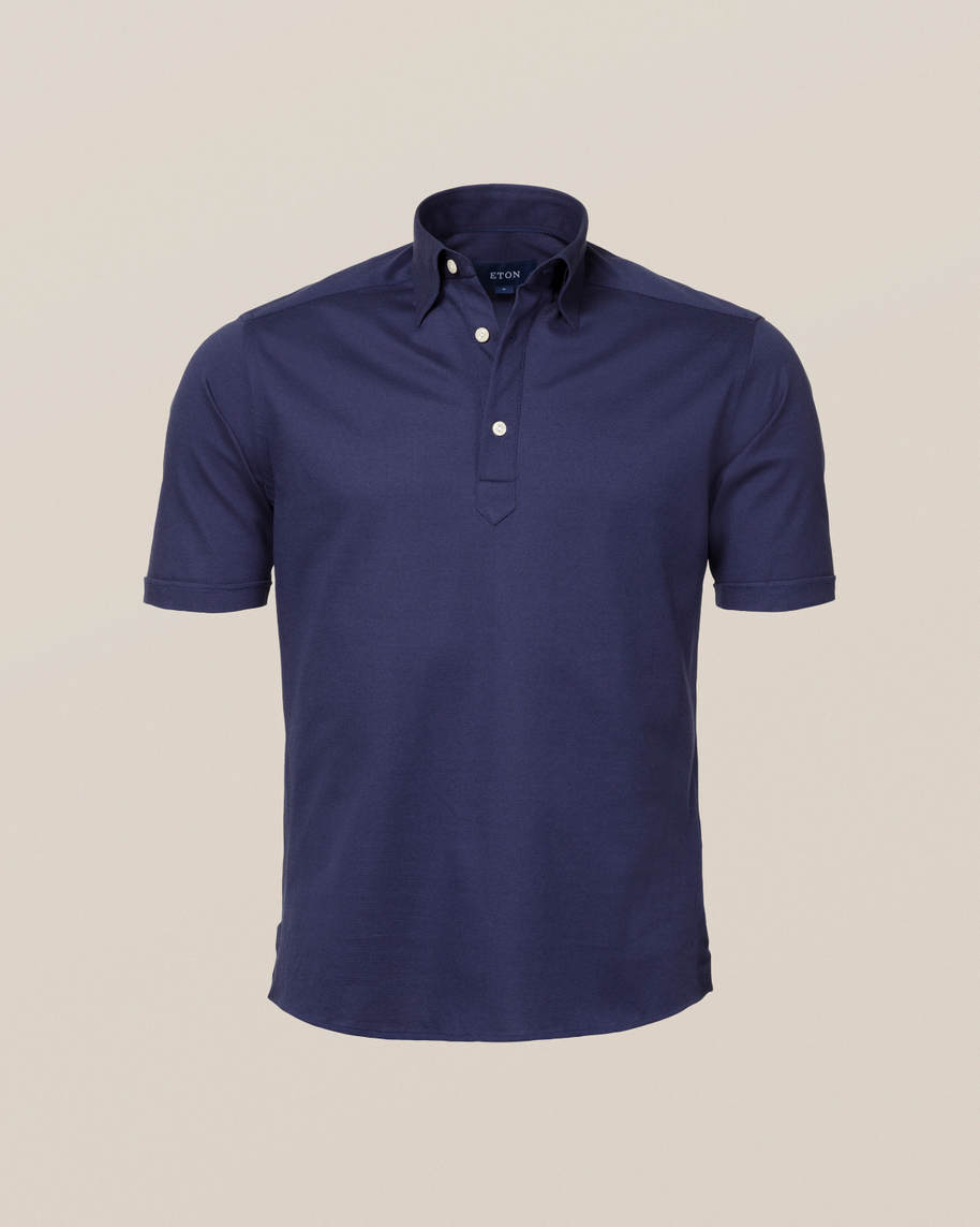 Vibrant blue polo shirt - short sleeved - image 3