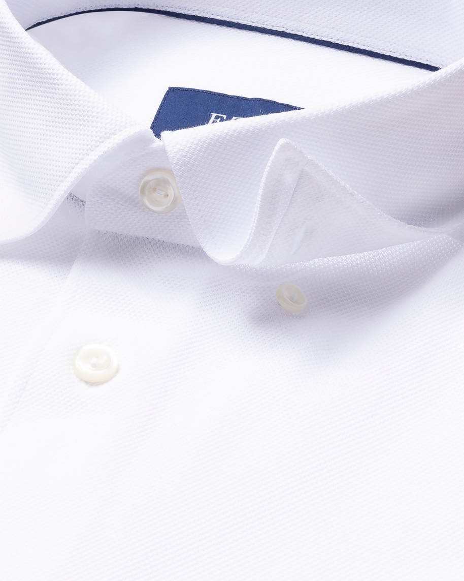 White Long-Sleeved Piqué Shirt - image 4