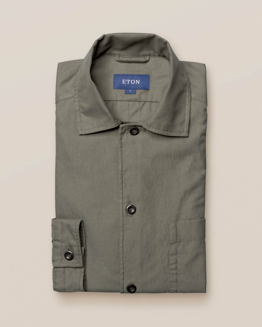 Green 3-pocket overshirt