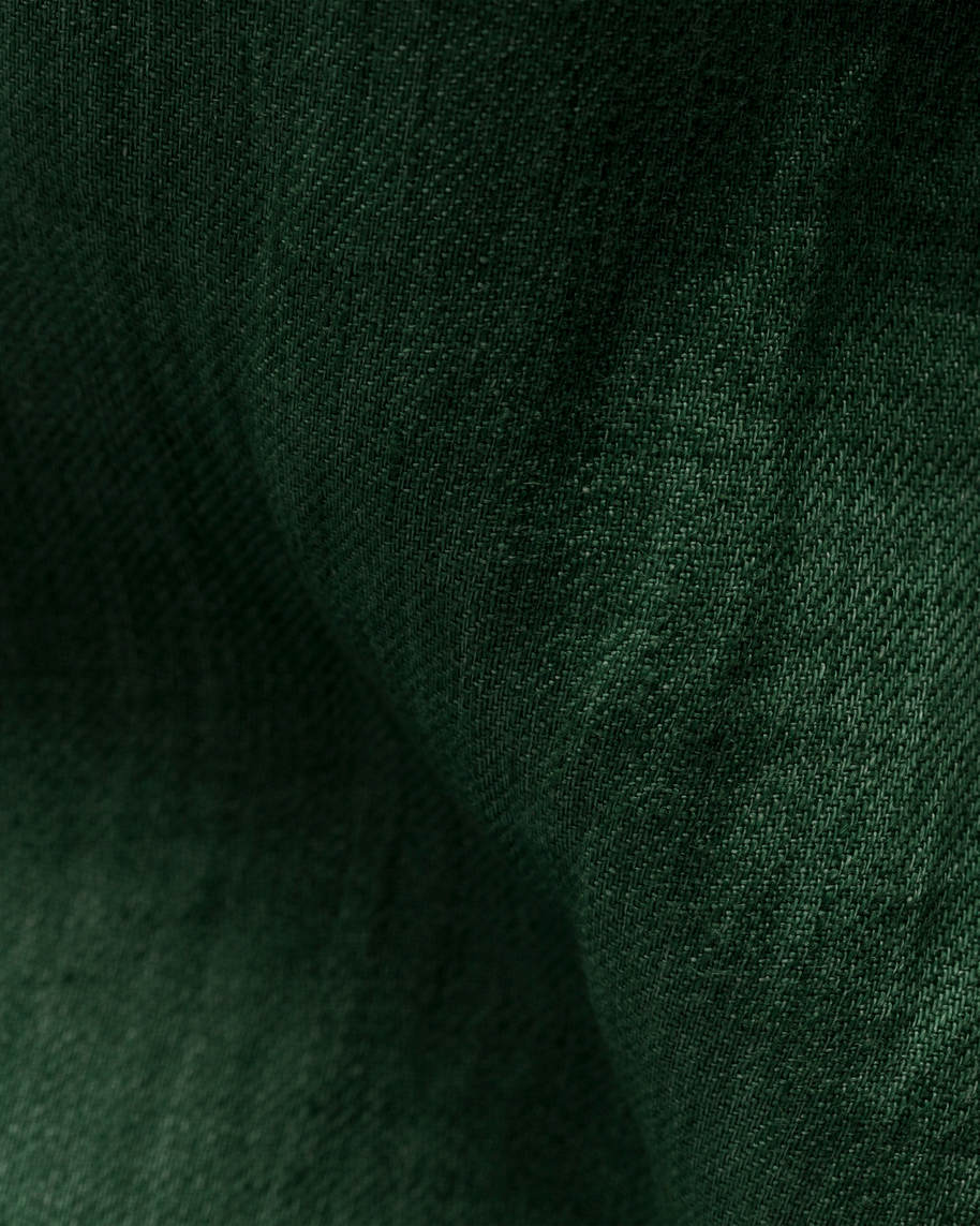 Green luxe linen popover shirt - image 2