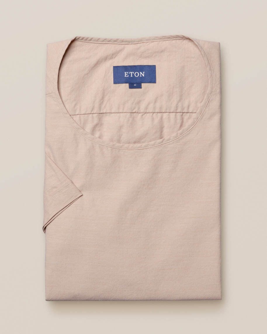 Sand T-shirt in woven twill