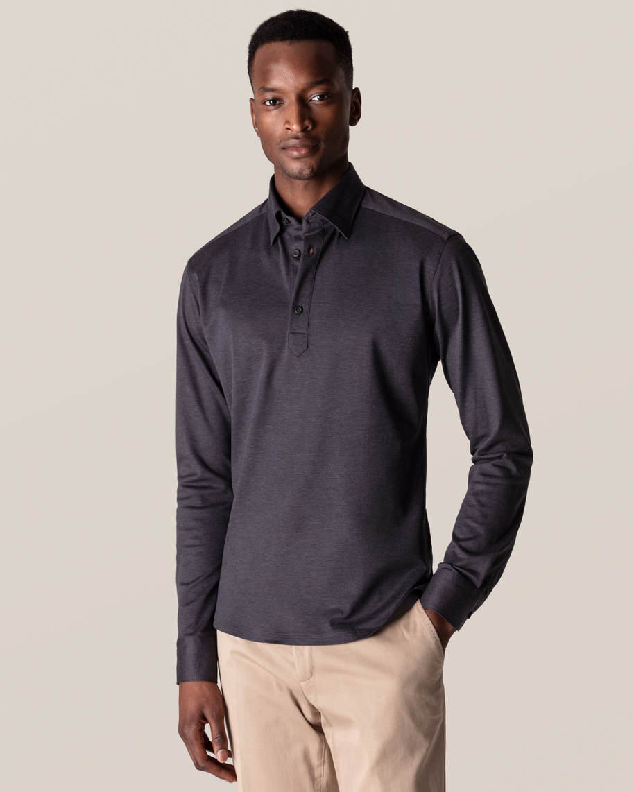 Dark Grey Polo Shirt – Long Sleeved
