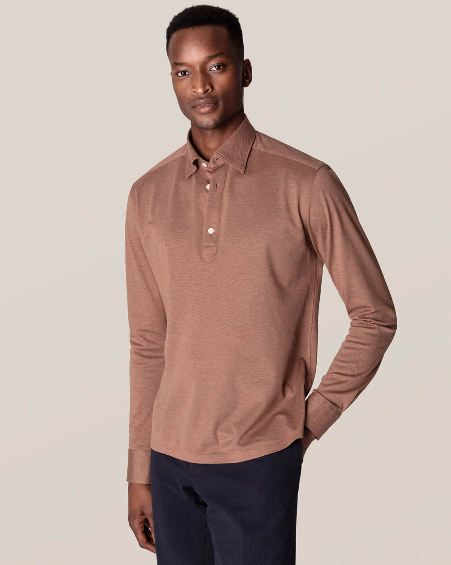 Light Brown Polo Shirt – Long Sleeved