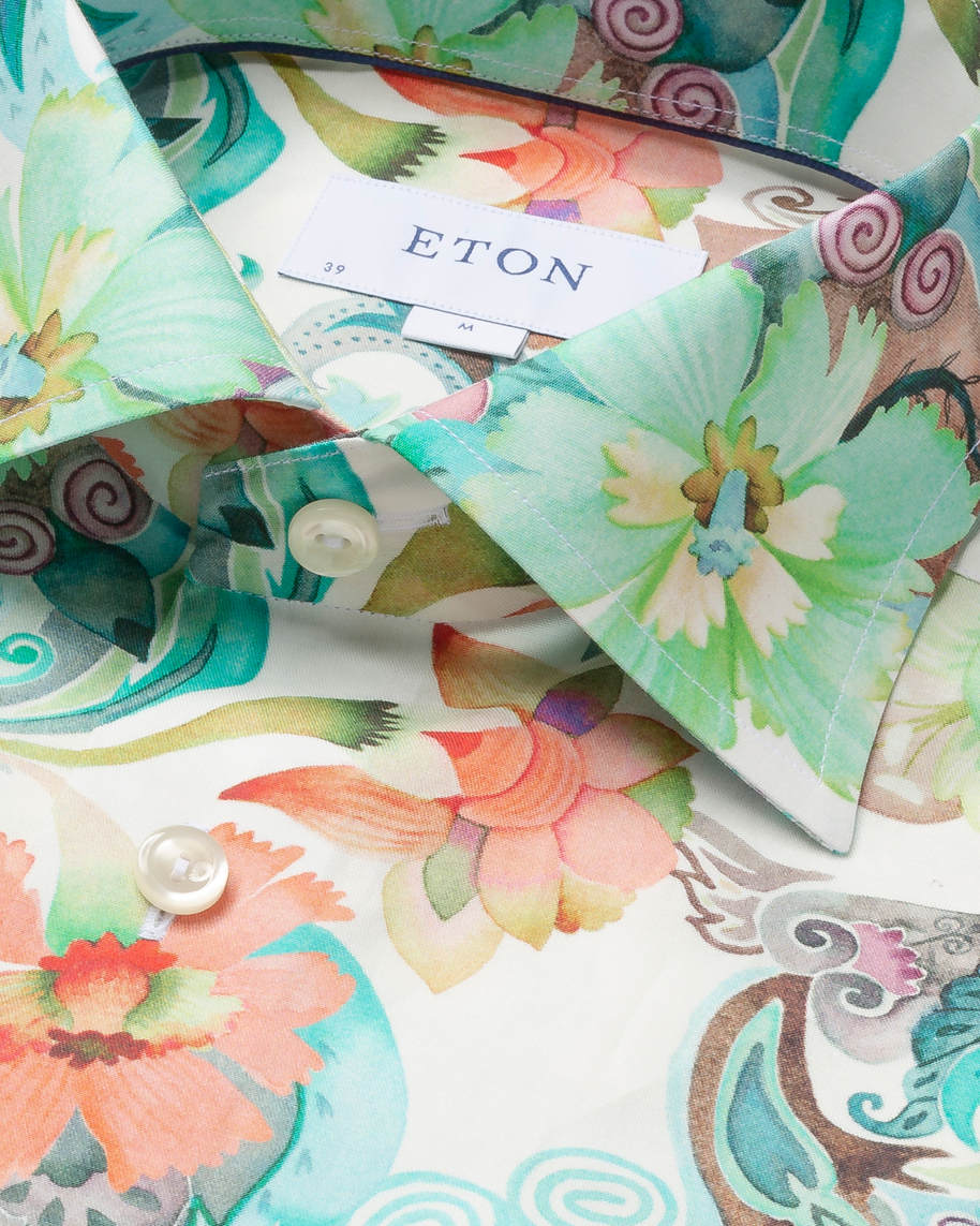 Water colour floral twill shirt - image 3