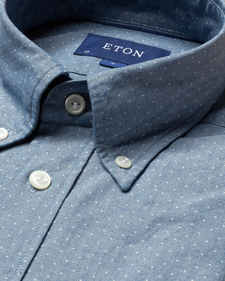 Pin dot indigo shirt
