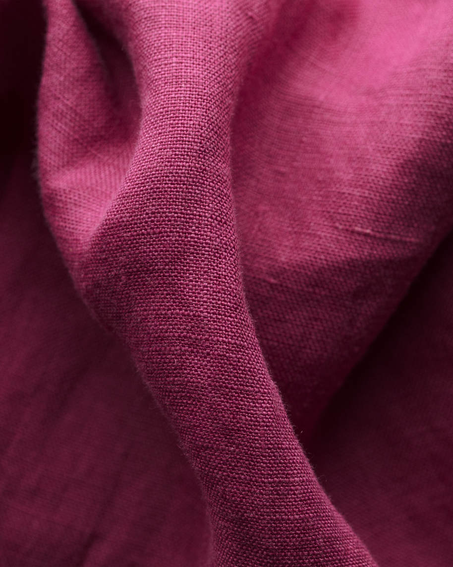 Burgundy linen shirt - soft - image 2
