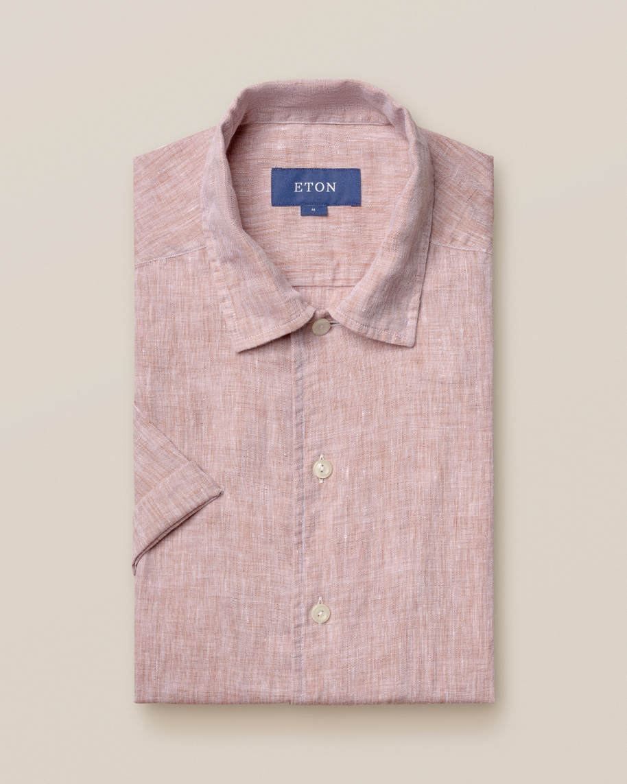 Beige linen resort shirt