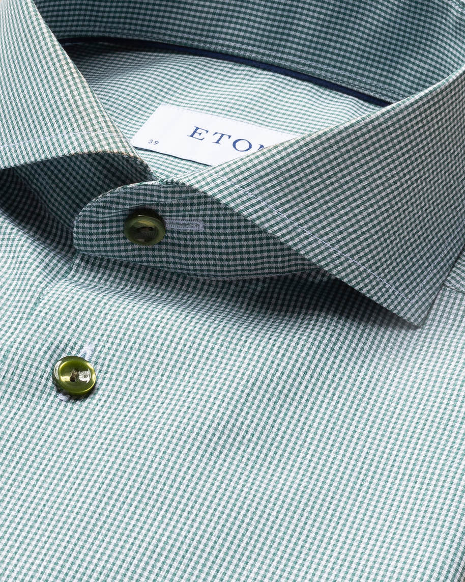 Green Gingham Poplin Shirt - image 8