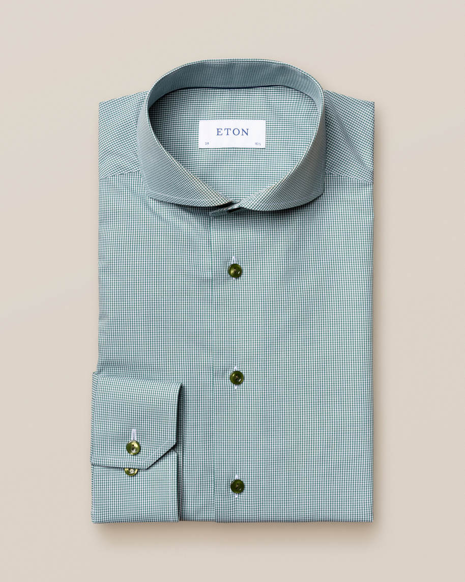 Green Gingham Poplin Shirt - image 2