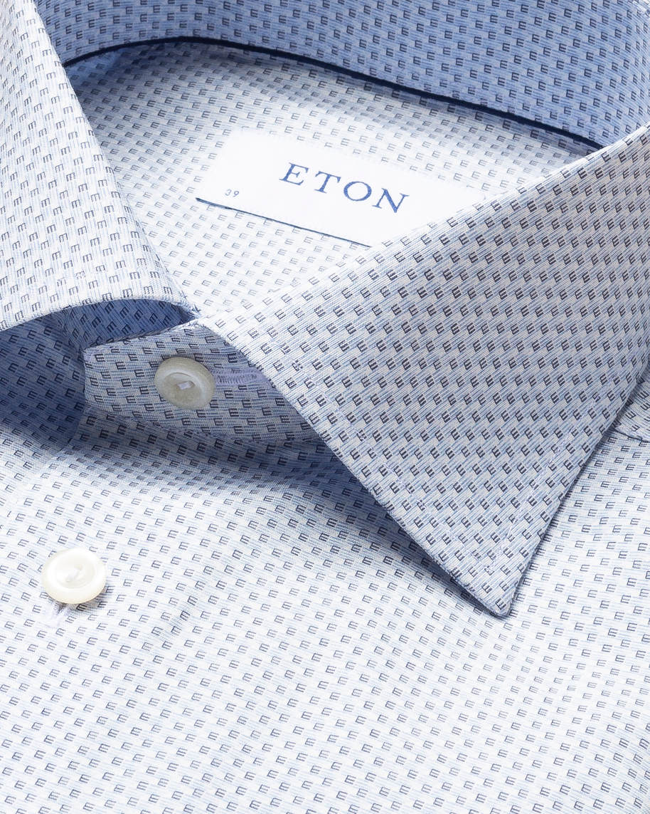 Light Blue Monogram Poplin Shirt - image 15