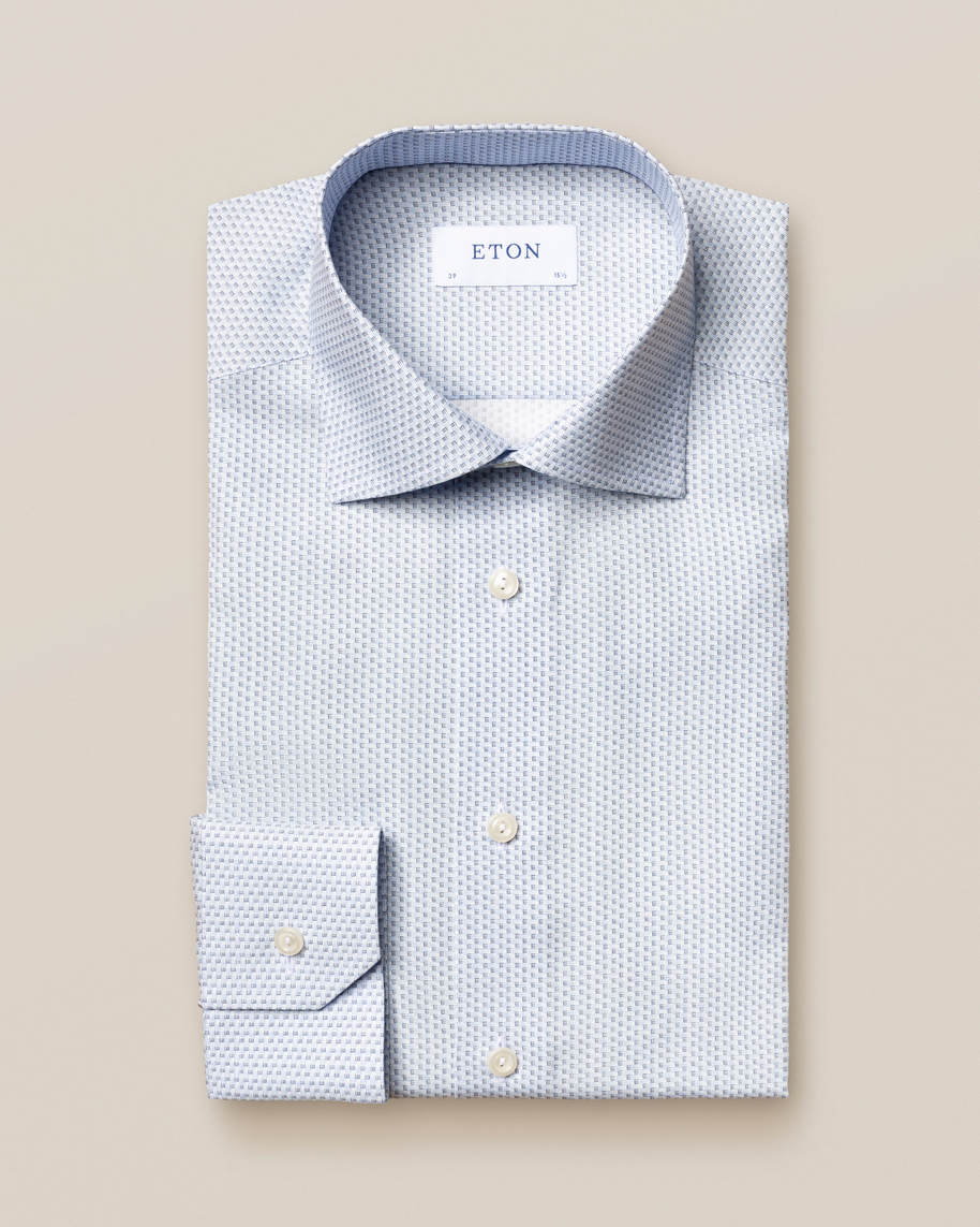 Light Blue Monogram Poplin Shirt - image 3