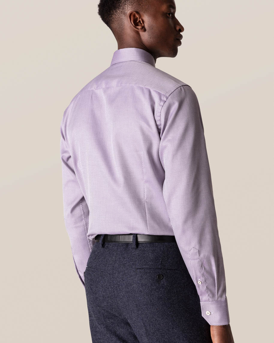 Purple Diamond Dobby Shirt - image 8
