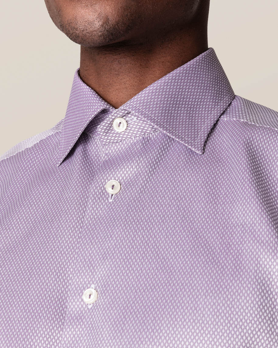 Purple Diamond Dobby Shirt - image 6
