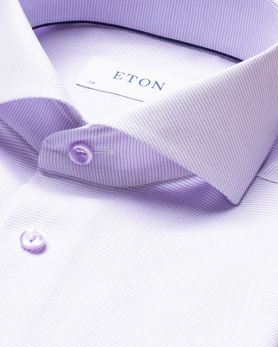 Light Purple & White Twill Shirt