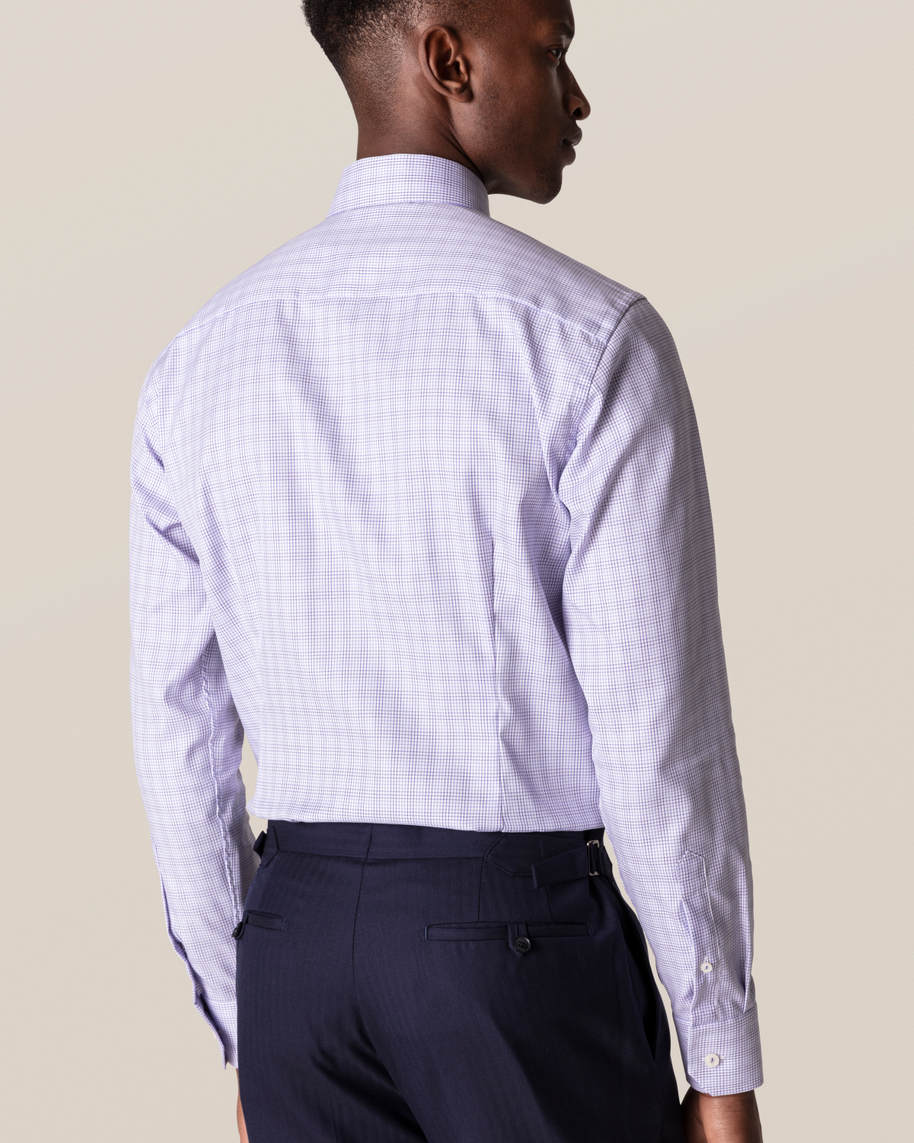 Purple Double-Checked Twill Shirt - image 5