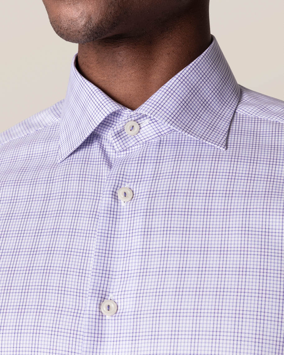 Purple Double-Checked Twill Shirt - image 6