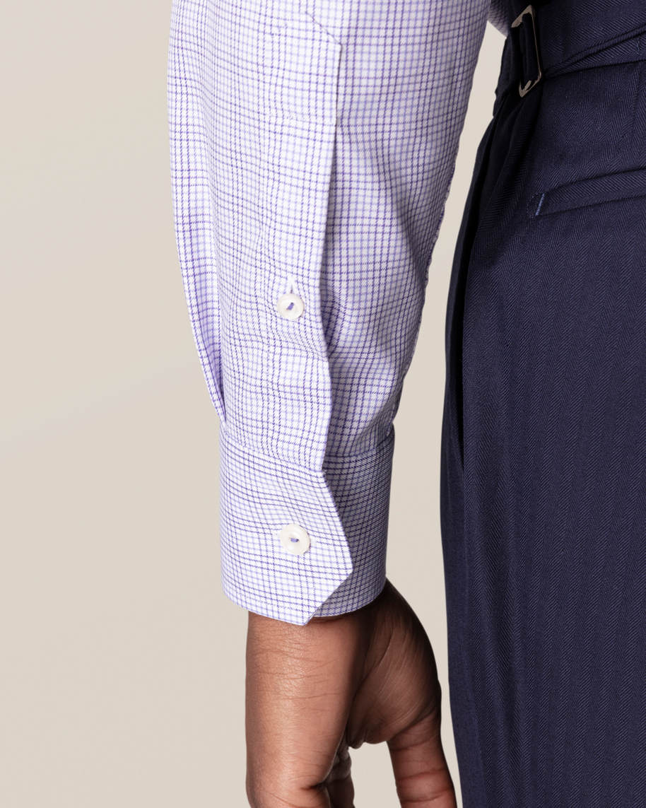 Purple Double-Checked Twill Shirt - image 8