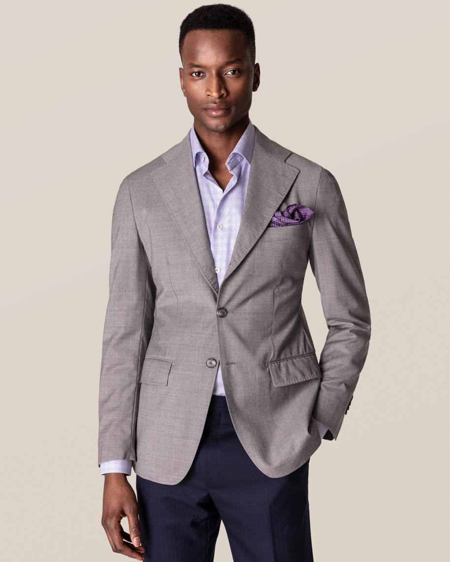 Purple Double-Checked Twill Shirt - image 9