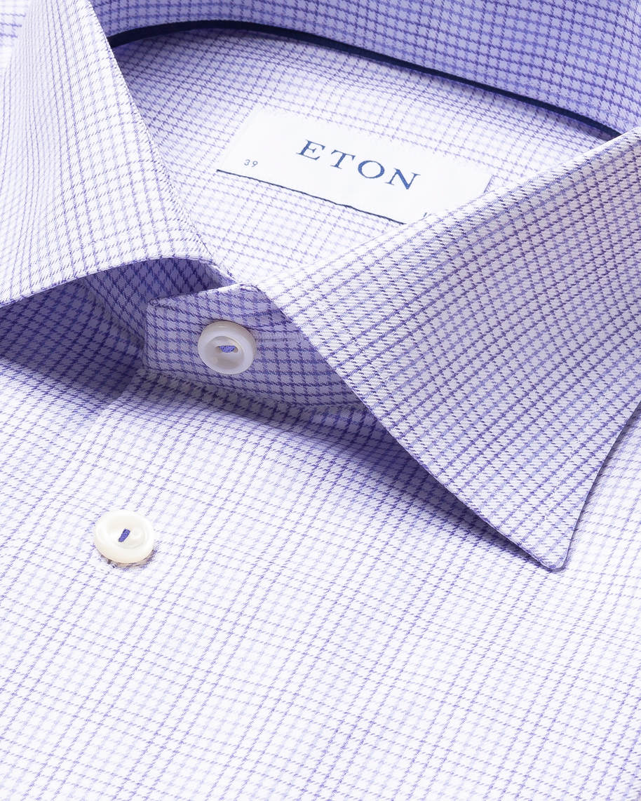 Purple Double-Checked Twill Shirt