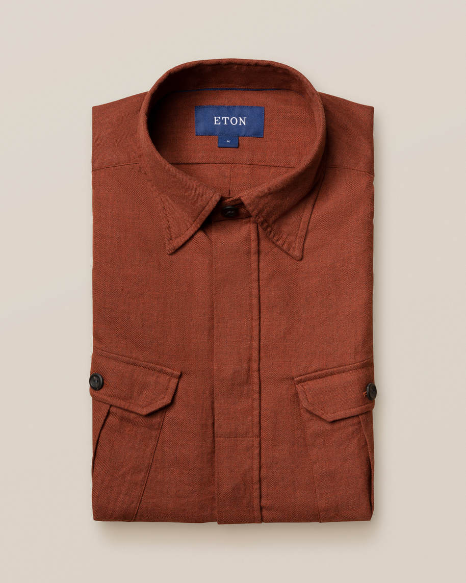 Dark Brown Four-Pocket Overshirt