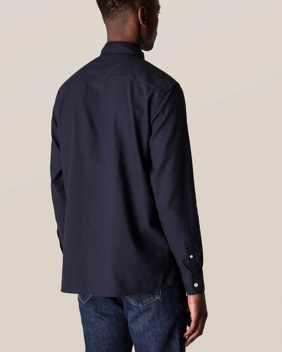 Dark Blue Half-Zip Shirt - image 8
