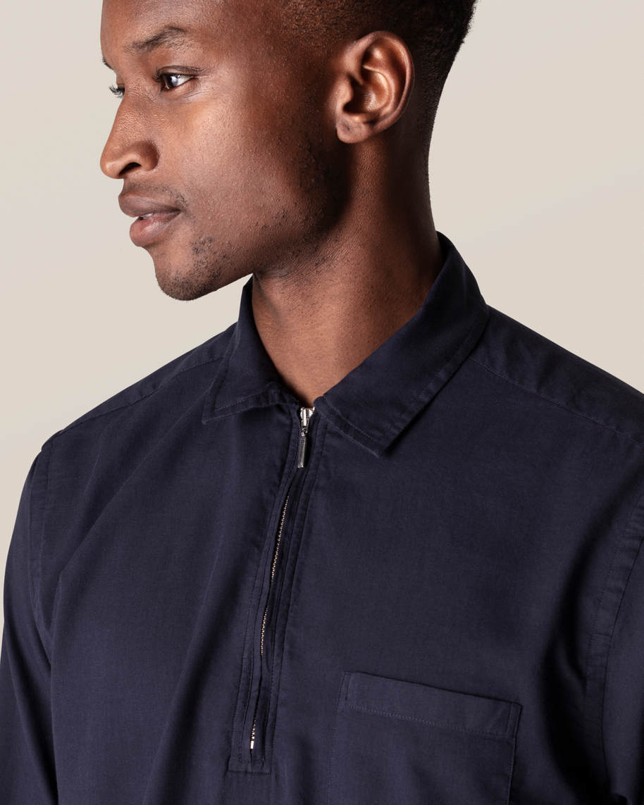 Dark Blue Half-Zip Shirt - image 10