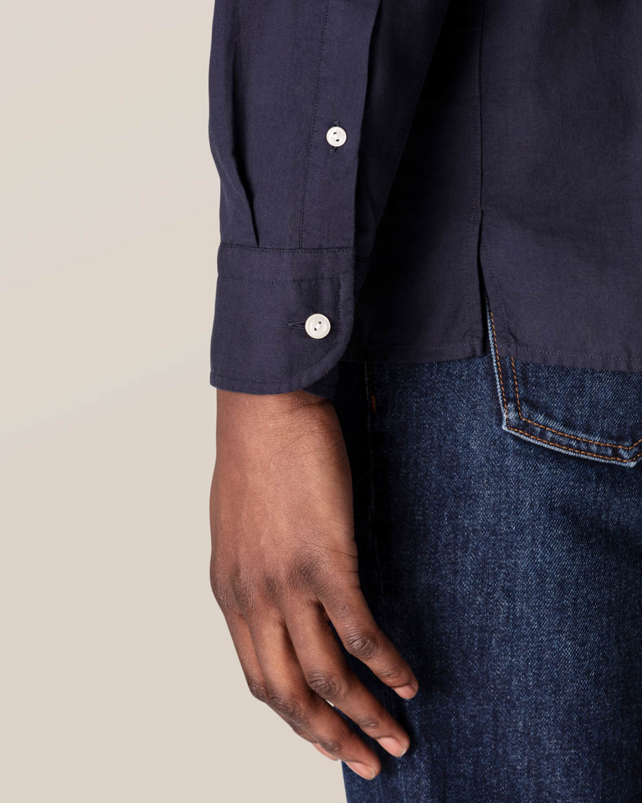 Dark Blue Half-Zip Shirt - image 7