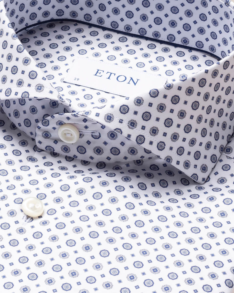 Blue Medallion Print Signature Twill Shirt