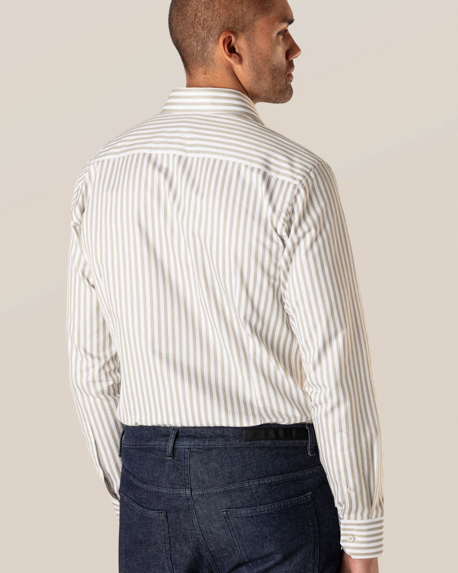 Green Striped Signature Twill Shirt - image 5