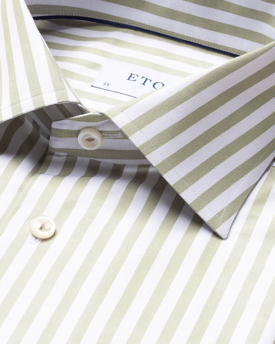 Green Striped Signature Twill Shirt - image 4