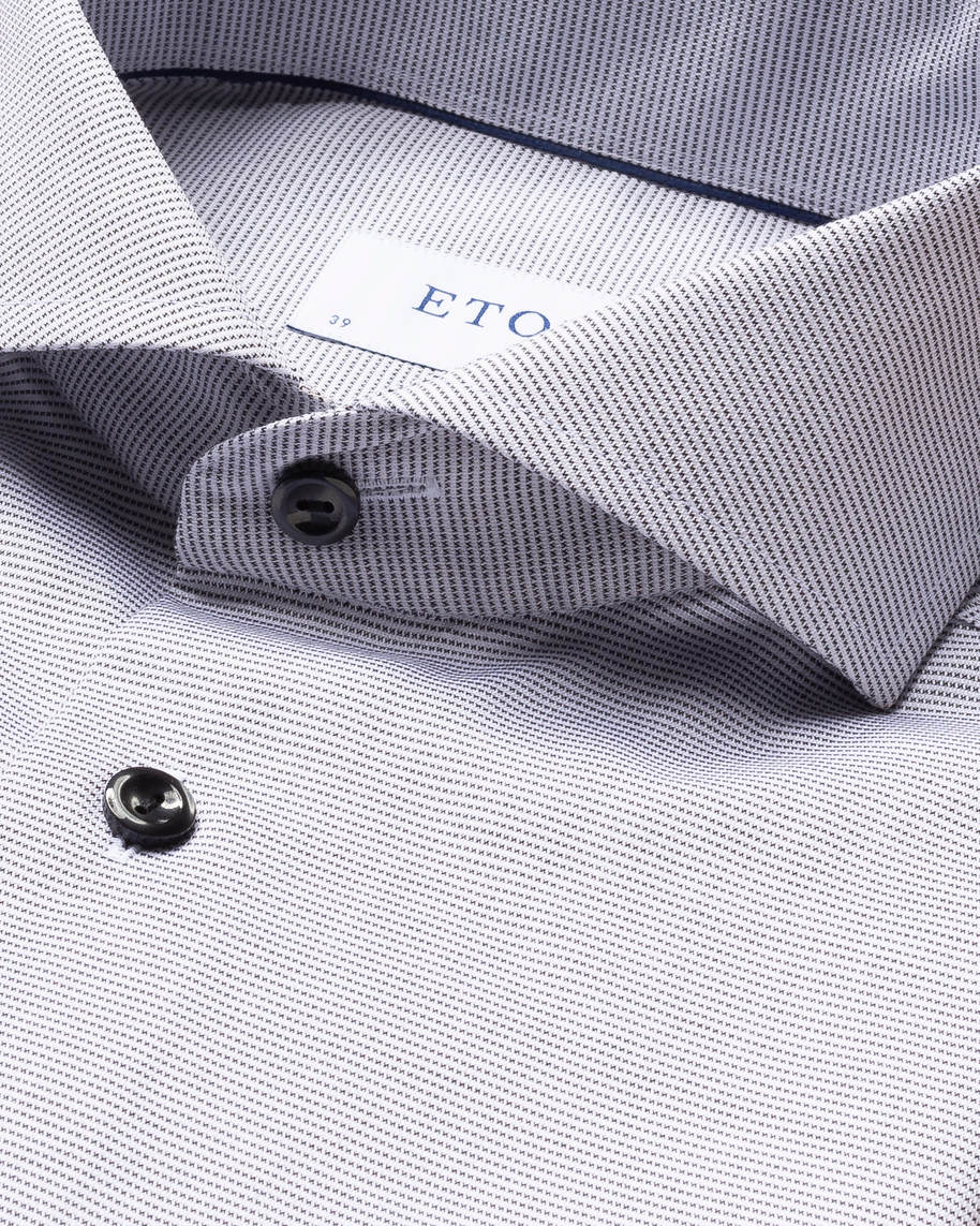 Grey & White Twill Shirt