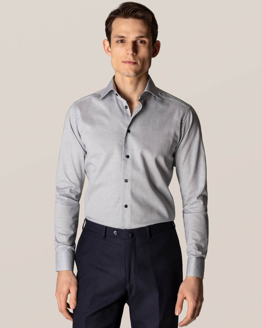 Grey & White Twill Shirt - image 1