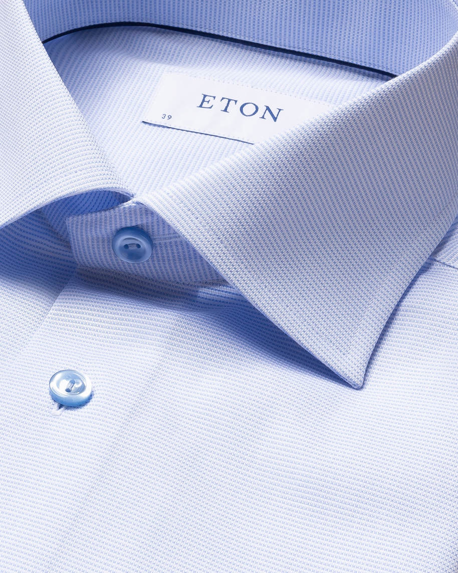 Light Blue & White Twill Shirt - image 4