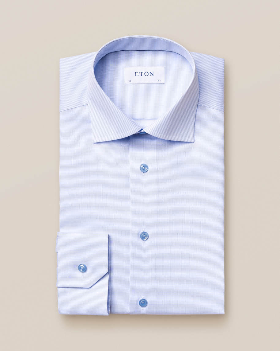 Light Blue & White Twill Shirt - image 1
