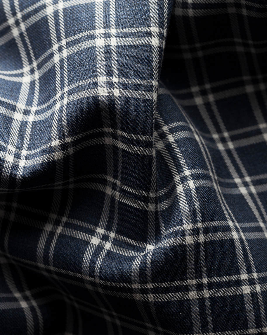 Blue & White Checked Flannel Shirt - image 2