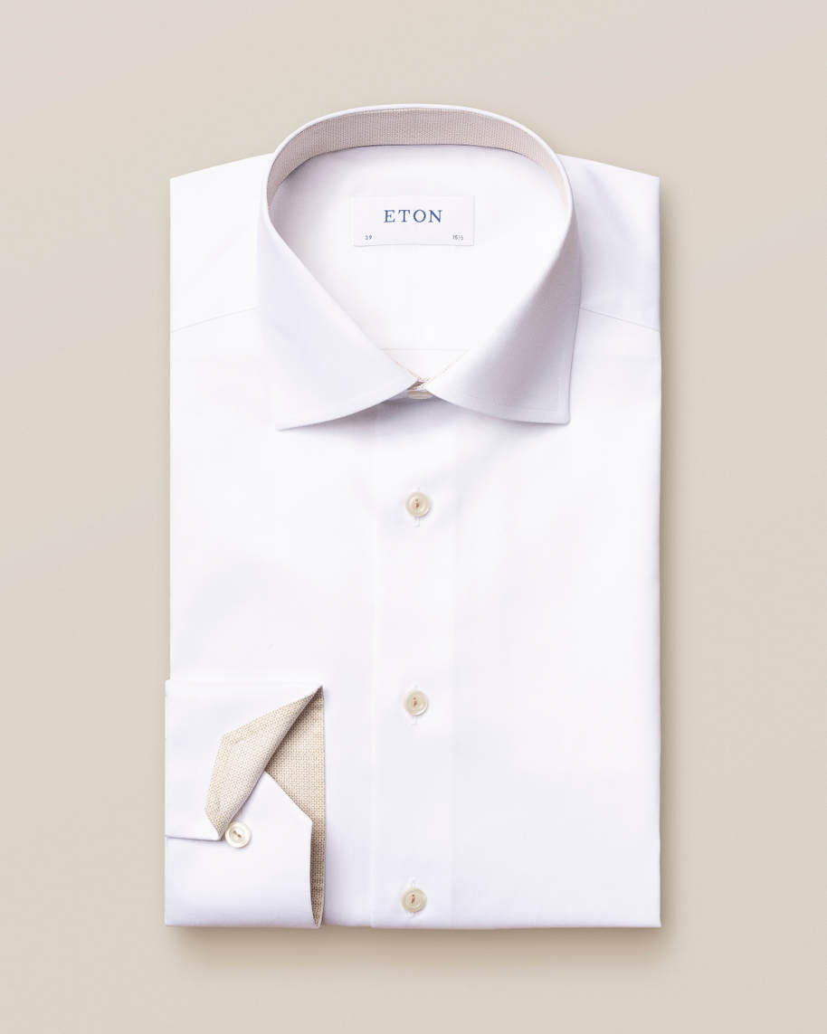 White Lightweight Details Shirt