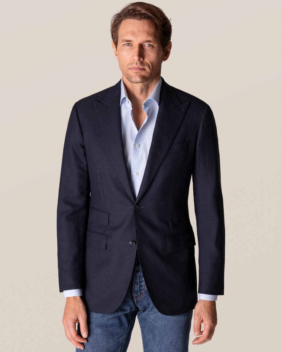 Blue Checked Fine Twill Shirt - image 8