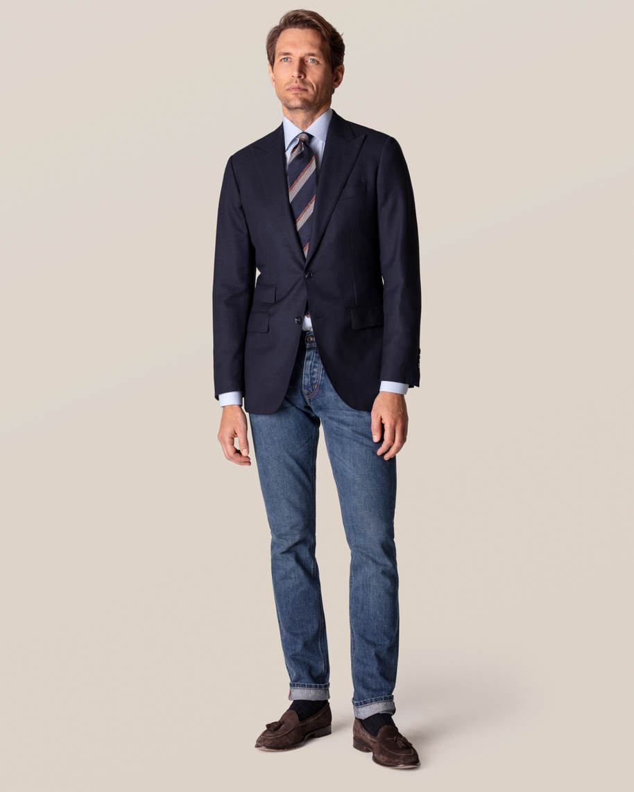 Blue Checked Fine Twill Shirt - image 7