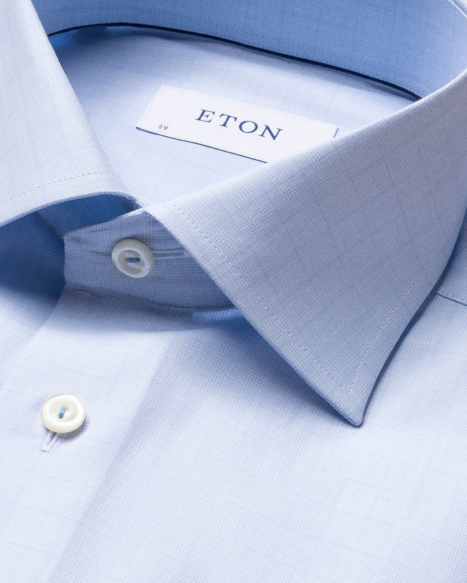 Blue Checked Fine Twill Shirt - image 6