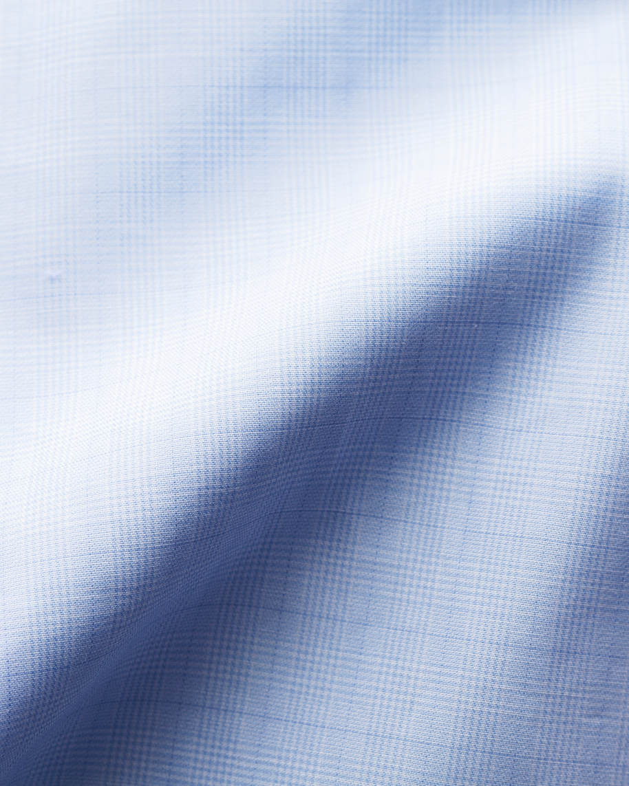 Blue Checked Fine Twill Shirt - image 4