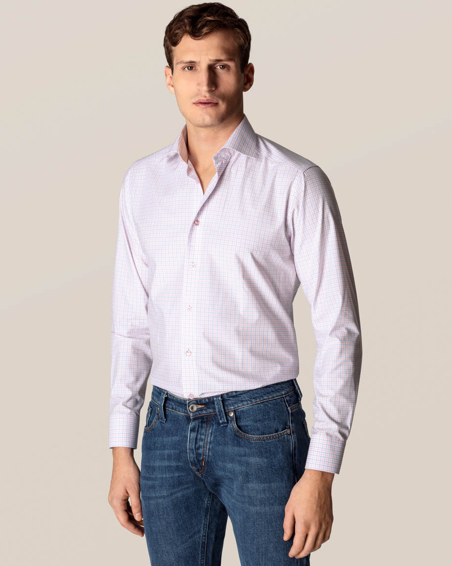 Pink Checked Fine Twill Shirt - image 1