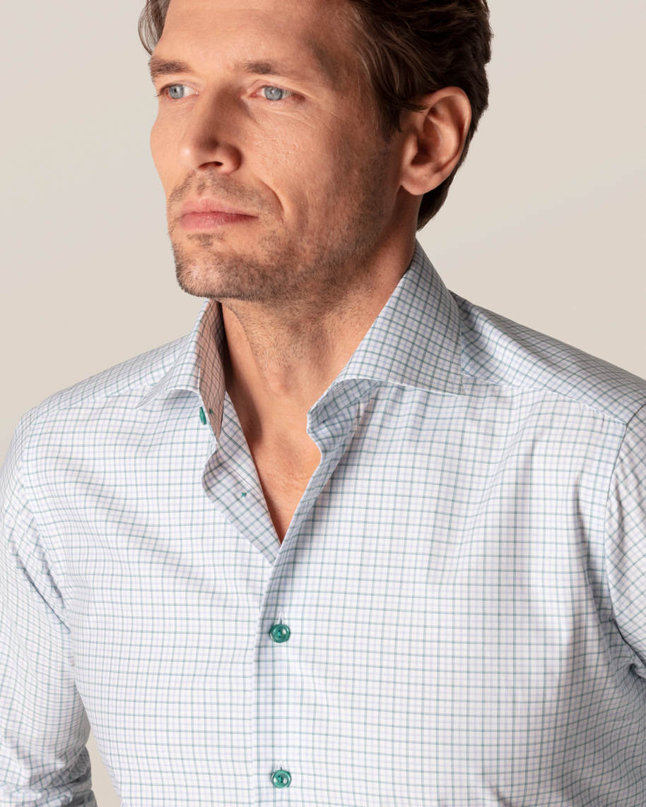 Green Checked Fine Twill Shirt - image 5