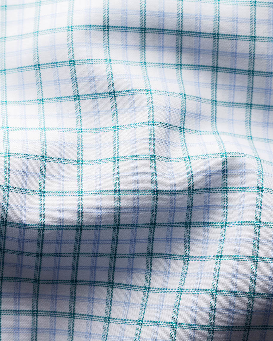 Green Checked Fine Twill Shirt - image 3