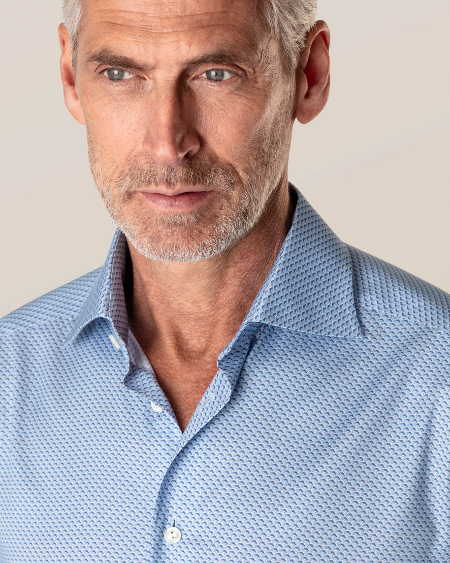 Blue Fish Print Signature Twill Shirt - image 9
