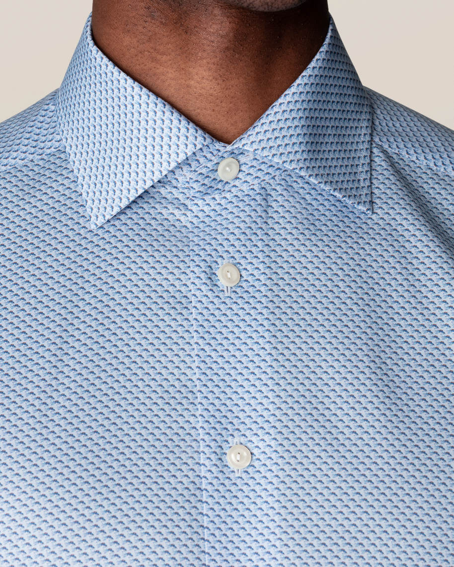 Blue Fish Print Signature Twill Shirt - image 12